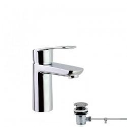 Monomando para lavabo con válvula automática