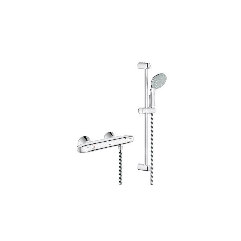 Termostato ducha grohe grohtherm 1000 new con conjunto ducha for Ducha termostatica grohe