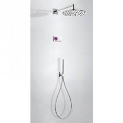 Kit electrónico ducha termostático empotrado Study-Tres.