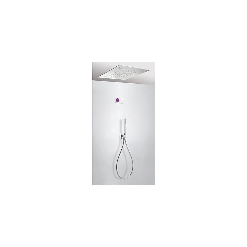 Kit electr nico ducha termost tico empotrado cromoterapia for Huber griferia