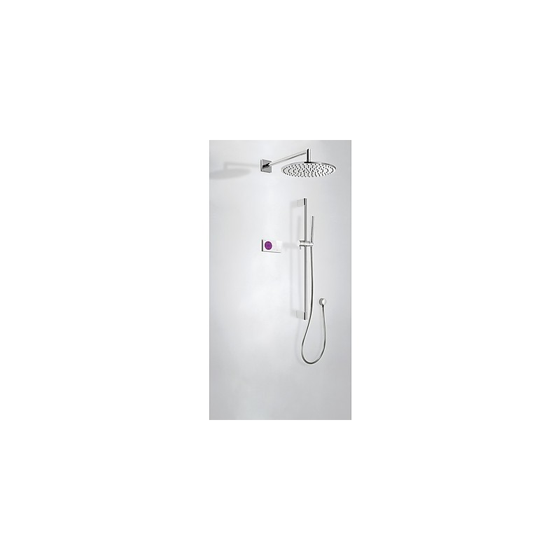 Kit electr nico ducha termost tico empotrado tres grifer a for Monomando termostatico ducha