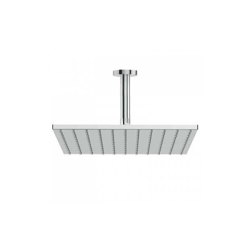 Rociador 30x30 con brazo de ducha a techo tres for Rociadores ducha empotrados techo