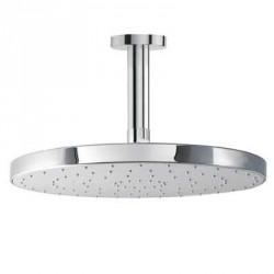 Rociador Ø 25 cm con brazo de ducha a techo Tres.