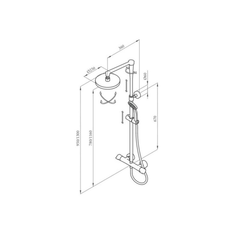 Conjunto ducha termost tica jolie grober grifer a for Conjunto ducha termostatica