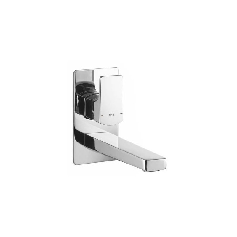 Grifo monomando lavabo pared l90 roca grifer a for Griferia pared