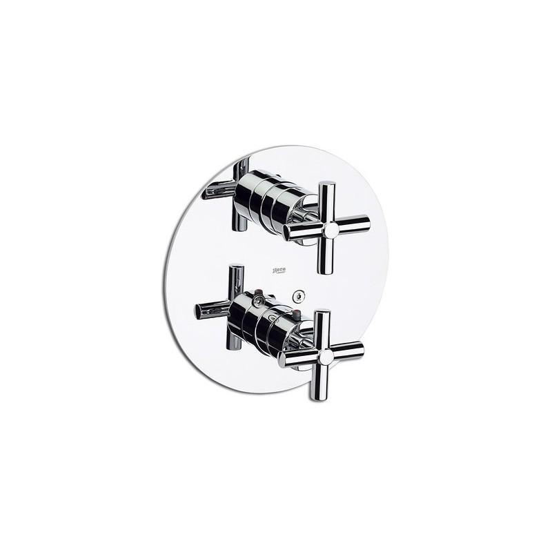 Mezclador termost tico empotrado ba o o ducha loft roca for Mezclador ducha grival