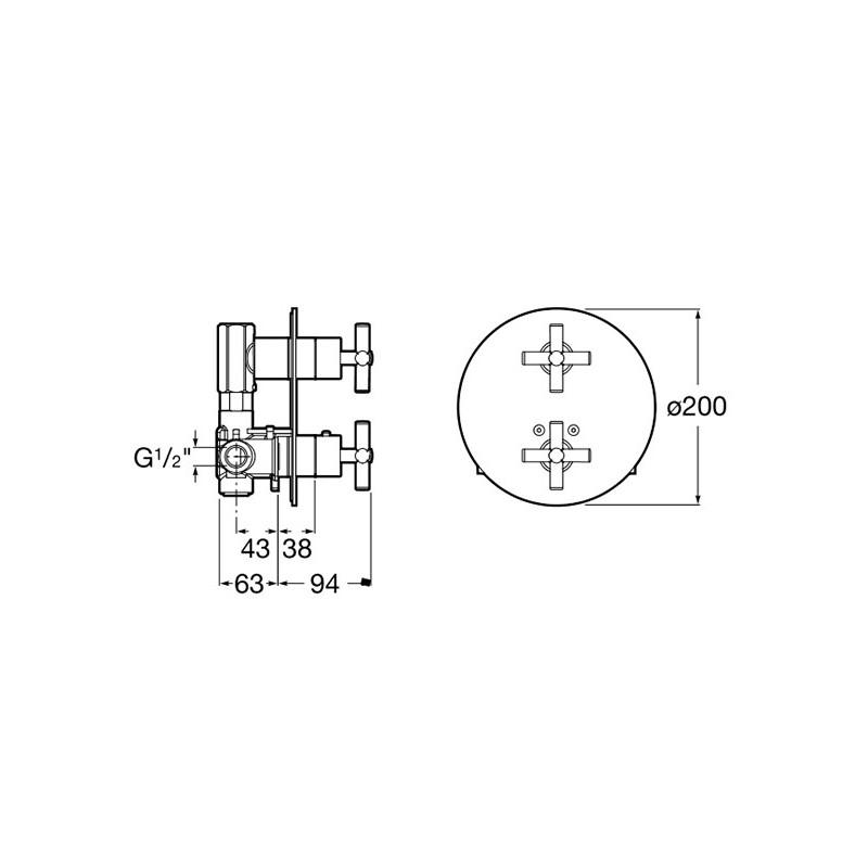 Mezclador termost tico empotrado ba o o ducha loft roca for Grifo termostatico ducha roca