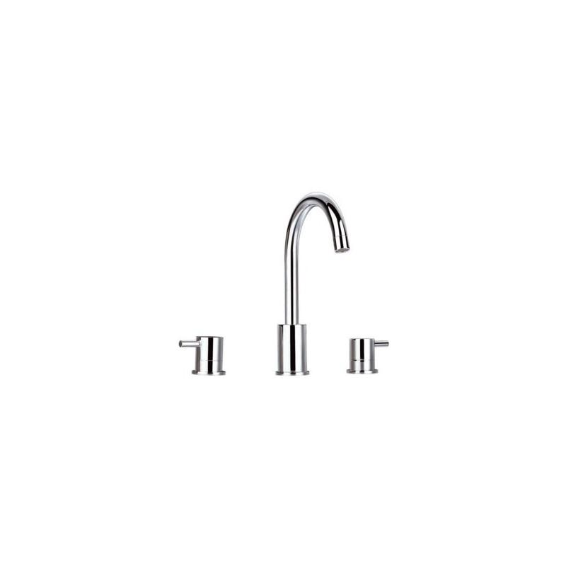 Grifo lavabo repisa caiman elegance grifer a clever for Huber griferia