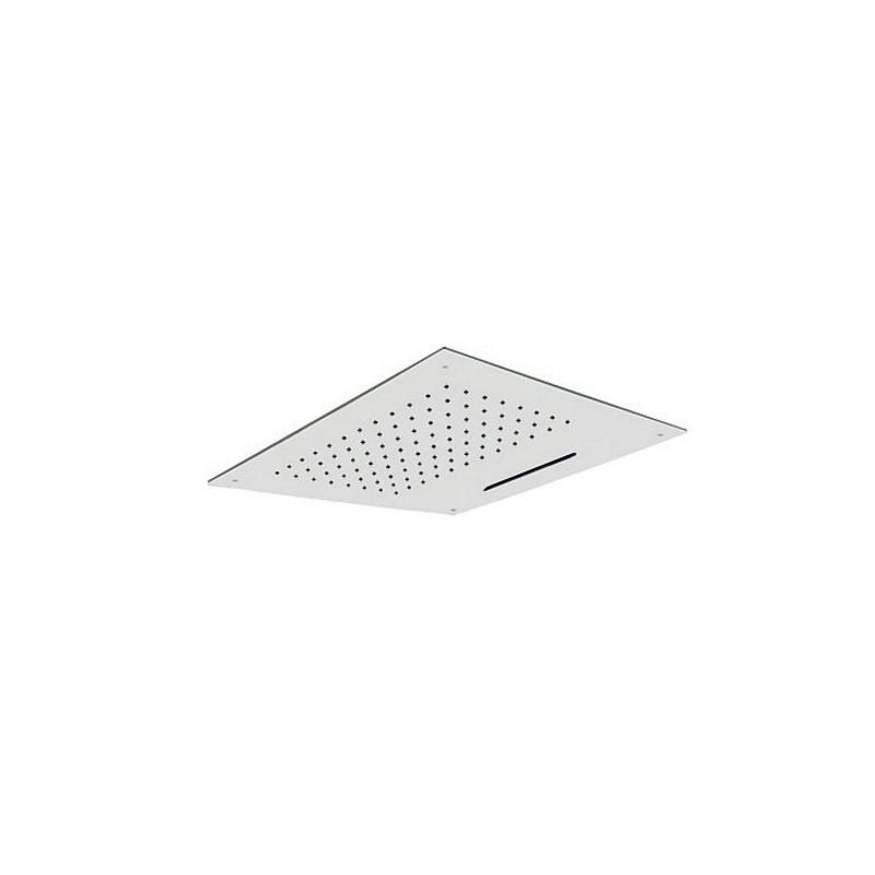 Rociador ducha a techo inoxidable con cascada 50 x 50 cm for Rociadores ducha empotrados techo