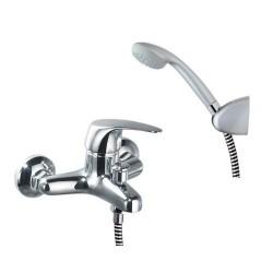 Monomando bañera Vulcano, equipo de ducha con flexo PVC Ramon Soler.