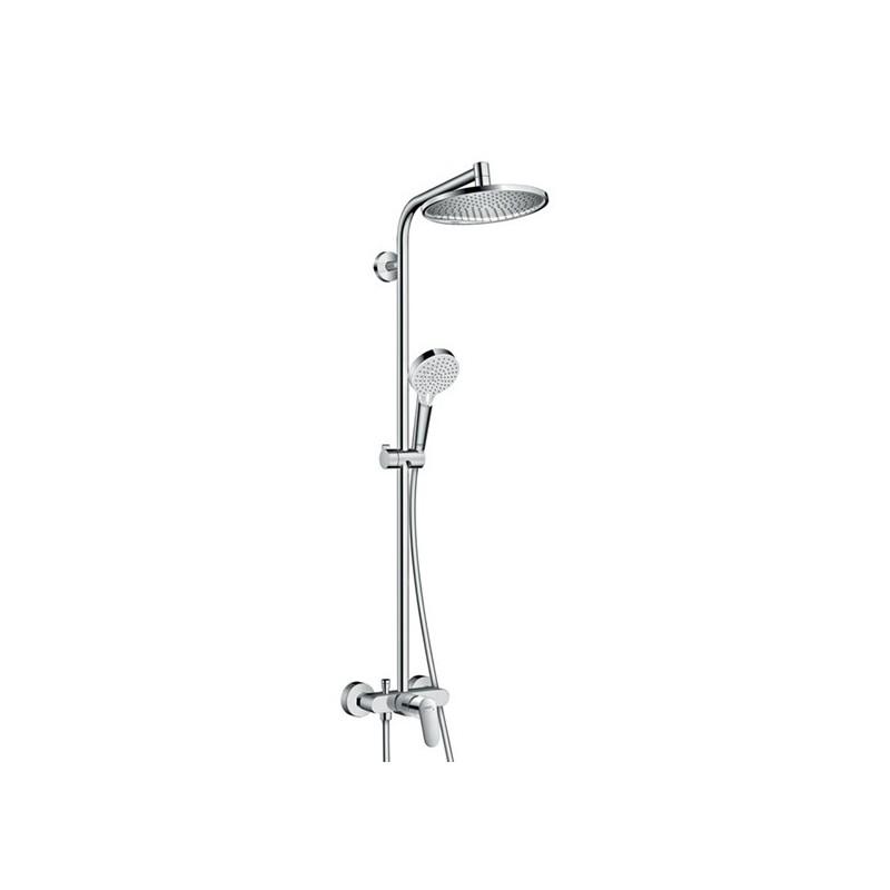 crometta s 240 1jet showerpipe monomando ducha hansgrohe. Black Bedroom Furniture Sets. Home Design Ideas