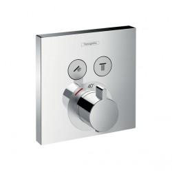 ShowerSlect termostática con 2 llave de paso empotrado Hansgrohe
