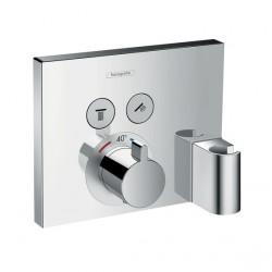 ShowerSlect termostática con 2 llave de paso empotrado y soporte Hansgrohe