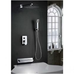 Conjunto monomando ducha empotrado Java IMEX Grifería.
